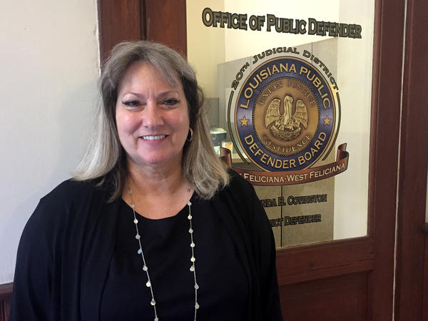 Rhonda Covington is the only full-time employee at the public defender's office for East and West Feliciana parishes in Louisiana.