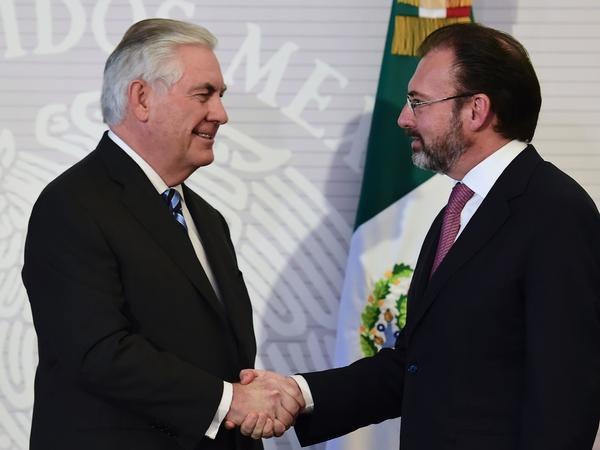 Mexico's foreign secretary, Luis Videgaray, met with Secretary of State Rex Tillerson in Mexico City on Feb. 23. But on a visit this week to Washington, Videgaray bypassed the State Department completely and went straight for meetings at the White House.