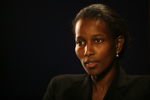 Somali-born women's rights activist Ayaan Hirsi Ali spoke at Fairfield University on Wednesday.