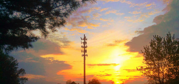 FIle photo of a cell phone tower. New, smaller 5G antennas will sit on top of exisiting infrastructure such as power poles and street lights