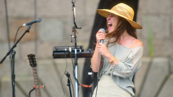 Feist performs at the 2013 Newport Folk Festival.