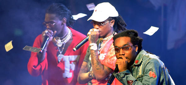 Migos performs at a nightclub in Las Vegas in February, following the <em>release</em> of its album <em>C U L T U R E</em>, which debuted at No. 1 on the <em>Billboard </em>album chart.