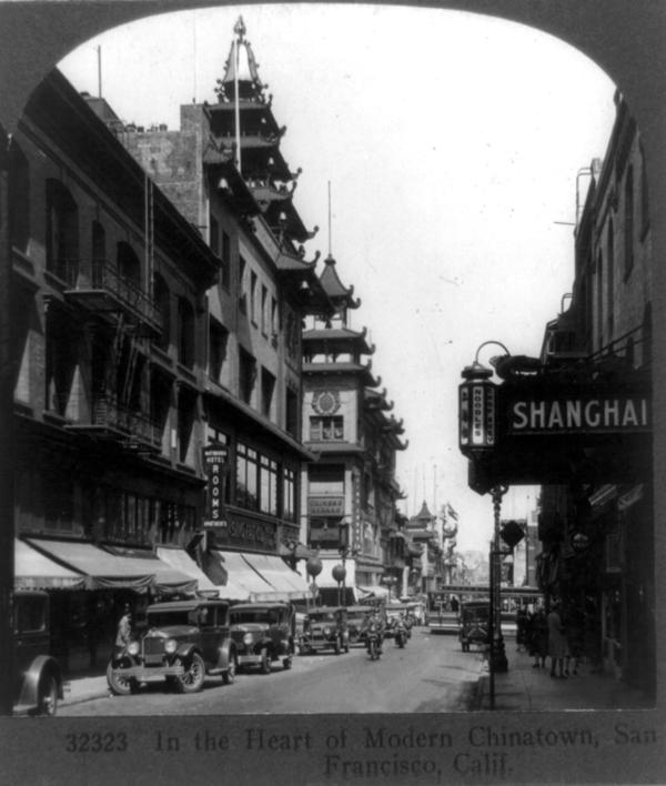 A view of San Francisco's Chinatown in 1929.