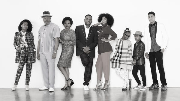 ABC's <em>Black-ish</em> stars Yara Shahidi, Laurence Fishburne, Jenifer Lewis, Anthony Anderson and Tracee Ellis Ross, Marsai Martin, Miles Brown and Marcus Scribner.