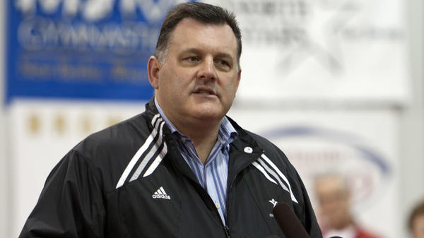 Steve Penny, president and CEO of USA Gymnastics, welcomes guests and media in Huntsville, Texas, in 2011. Penny resigned Thursday, amid accusations that his organization ignored the sexual abuse of children by adults working in the sport.