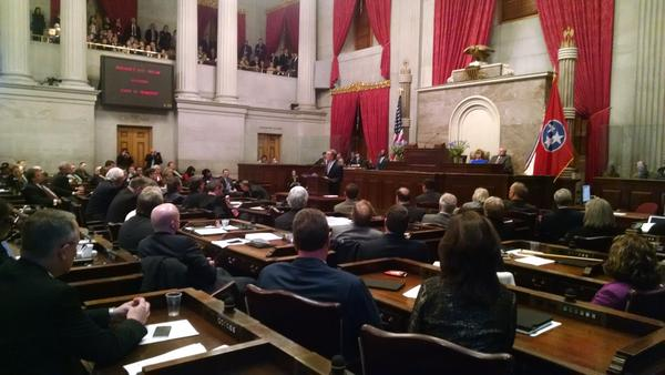 Gov. Bill Haslam pitches his Insure Tennessee proposal in 2015.