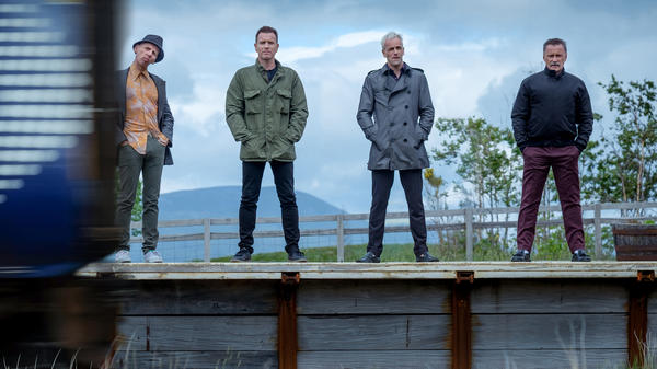 Getting the band back together: Ewen Bremner, Ewan McGregor, Jonny Lee Miller and Robert Carlyle return for <em></em><em>T2 Trainspotting.</em>