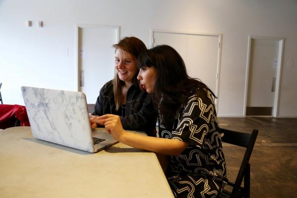 <p>Portland artist Taryn Tomasello and Roya Amirsoleymani, PICA's directory of community engagement, learn how to edit and create Wikipedia entries.</p>