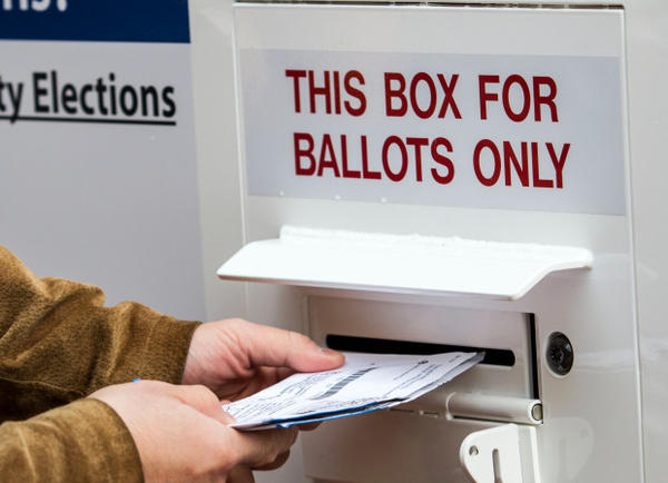 <p>The Klamath County Sheriff's Office is investigating after around 240 ballots were taken from a box near the Klamath Basin Senior Center.</p>