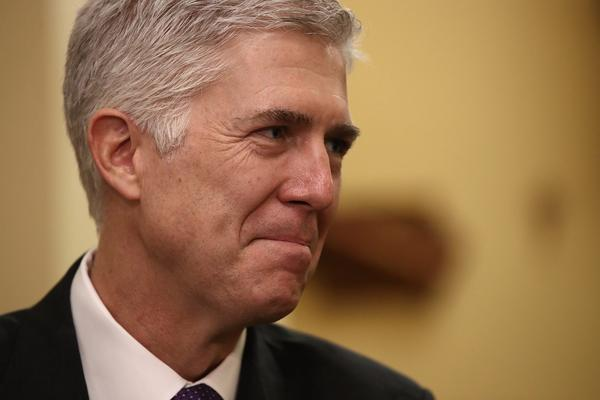 Supreme Court nominee Judge Neil Gorsuch in February 2017. (Win McNamee/Getty Images)