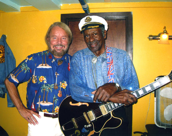 Joe Edwards with Chuck Berry at Blueberry Hill.