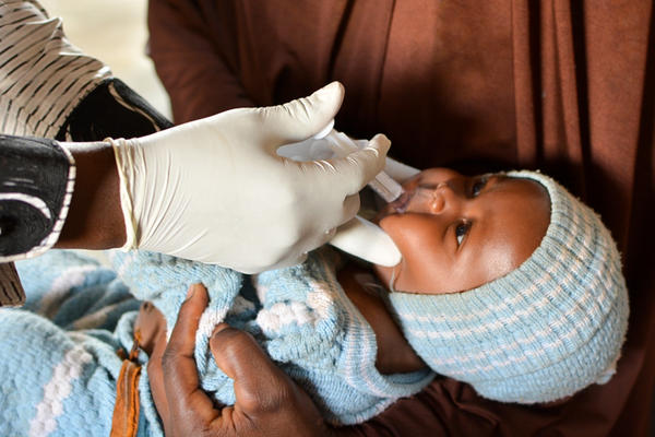 A baby receives the rotavirus vaccine during a clinical trial in Niger. The new vaccine is the first designed specifically for children in sub-Saharan Africa. It doesn't require refrigeration and will be cheaper than ones currently available.