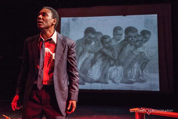 """Meshaun Labrone perfoms """"POWER!"""" Stokely Carmichael, a one-man play chroniciling Stokely Carmichael's role in the black power movement."""
