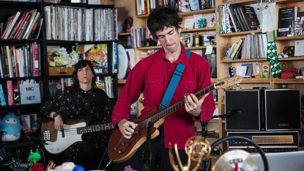 Delicate Steve performs a Tiny Desk Concert on Mar. 3, 2017. (Marian Carrasquero/NPR)