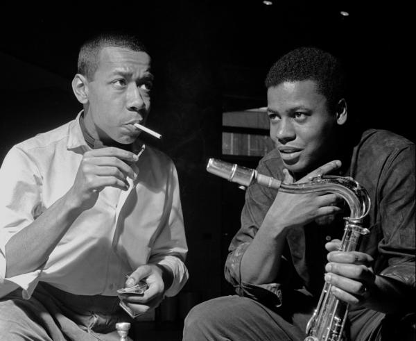 Lee Morgan (left) and Wayne Shorter.