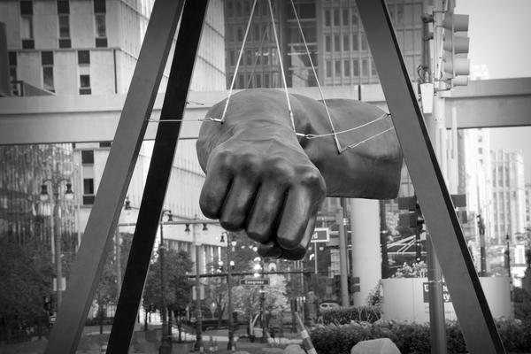 """The Fist"" of Joe Louis is one of two symbols of the iconic boxing champion that currently exist in Detroit."