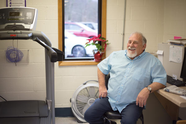 James Bounds sits in the Pulmonary Rehabilitation Clinic in Scarbro