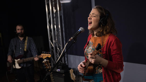 Becca Stevens performs in the <em>World Cafe</em> studio at WXPN in Philadelphia, Penn.