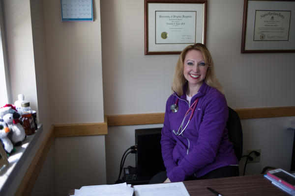 Doctor Elizabeth Brown in her South Charleston office.
