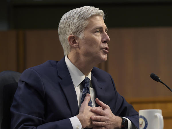 Supreme Court Justice nominee Neil Gorsuch testifies during his confirmation hearing before the Senate Judiciary Committee on Wednesday, March 22, 2017. (AP Photo/Susan Walsh)