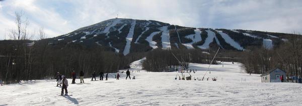 Skiers at Maine's Sugarloaf resort in 2008.