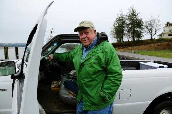<p>Dick Wilson has been farming oysters in Willapa Bay for the past 40 years. He owns the company Bay Center Mariculture. Their processing plant and storefront is about 800 feet down the road from the spill.</p>