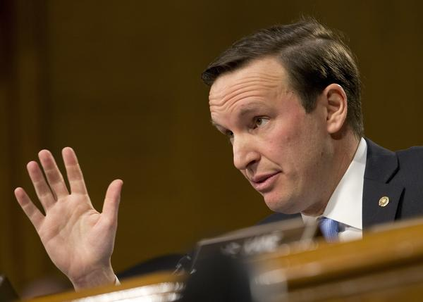 Senate Foreign Relations Committee member Sen. Chris Murphy, D-Conn. questions Secretary of State-designate Rex Tillerson during the committee's confirmation hearing of Tillerson on Capitol Hill in Washington in January.