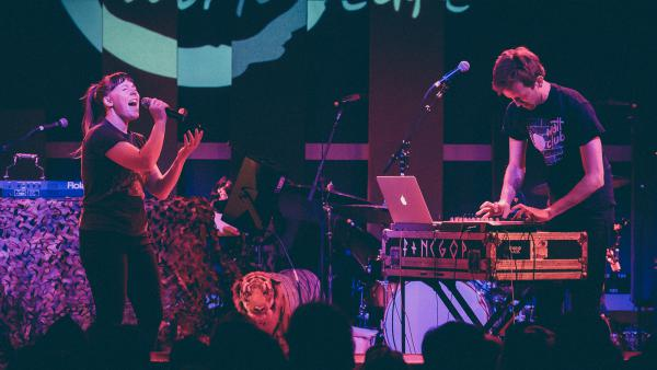 Sylvan Esso performs at World Cafe Live in Philadelphia for <em>World Cafe</em>'s 25th anniversary show.