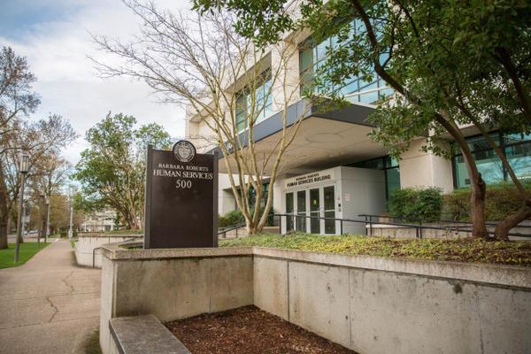 <p>The Oregon Department of Human Services building in Salem, Oregon.</p>