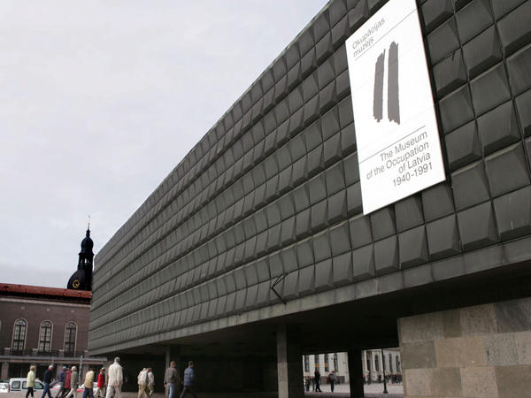 The Museum of Occupation (shown here in 2005) was a pro-Soviet museum before the fall of the Soviet Union in 1991. Now, the museum's exhibits chronicle Latvia's periods of Nazi and Soviet occupation.
