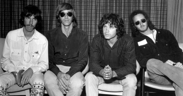 "Founded in Los Angeles in 1960s, <a href=""http://www.npr.org/artists/15446942/the-doors"">The Doors</a> (left to right: drummer John Densmore, keyboard player Ray Mansarek, vocalist Jim Morrison and guitarist Robby Krieger) took their name from Aldous Huxley's 1954 book, <em>The Doors of Perception</em>."