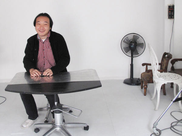 Park, a photographer, is shown in his studio, which was the subject of a 10-hour search on suspicion of violating the National Security Law.
