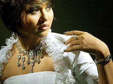 Burmese pop singer Phyu Phyu Kyaw Thein.