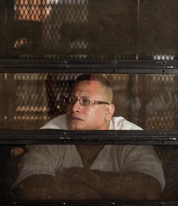 John Chris Hernandez listens to <em>The Prison Show</em> from his cell at the Eastham Unit penitentiary in East Texas. Hernandez is currently serving a life sentence for murder.