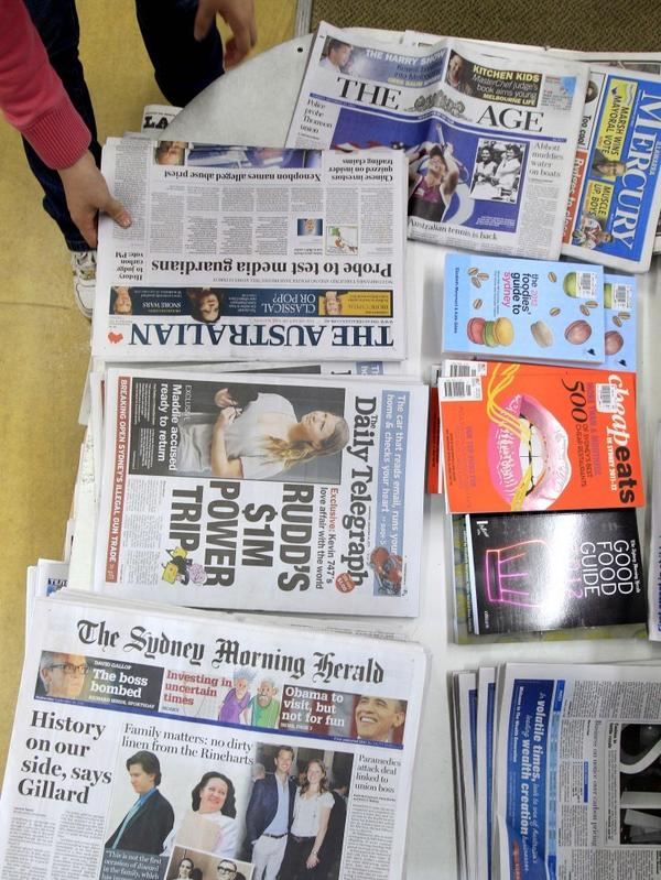 Between 6 and 7 of every 10 copies of national and metro papers sold in Australia are owned by News Ltd., News Corp.'s Australian newspaper arm. The company owns <em>The Australian</em> and <em>The Daily Telegraph;</em> while <em>The Age</em> and <em>The</em> <em>Sydney Morning Herald</em> are owned by rival Fairfax Media.