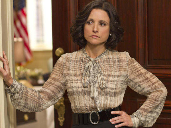 Julia Louis-Dreyfus plays a frustrated vice president in the new HBO comedy <em>Veep</em>.