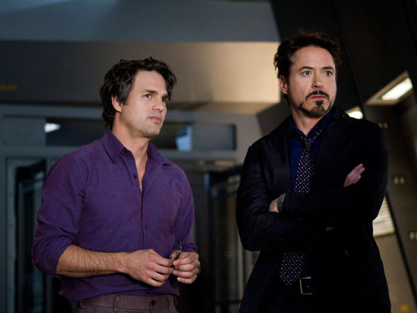Mark Ruffalo (left) and Robert Downey Jr. are both helped by ample amounts of CGI to transform into the Hulk and Iron Man, respectively.