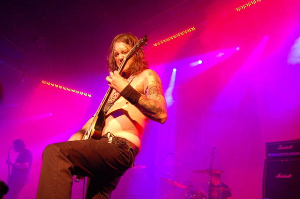 Guitarist Matt Pike of Bay Area metal band High on Fire (pictured here in a performance with Sleep at 2010's All Tomorrows Parties Music Festival) uses Marshall amps to crush skulls.