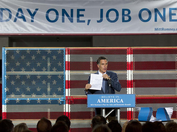 Mitt Romney talks about his plan for creating jobs at a 2011 campaign speech in Las Vegas.