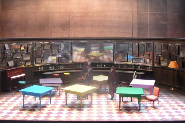 Designer Bob Crowley modeled the set for <em>Once </em>on a pub — because the play's original venue had a built-in bar.