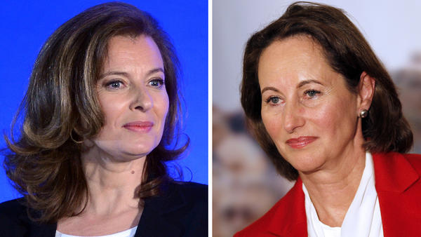 French President Francois Hollande's companion, Valerie Trierweiler (left), has sparked a political uproar in France, with a tweet in support of a candidate running against Segolene Royal (right), Hollande's former partner and the mother of his four children.