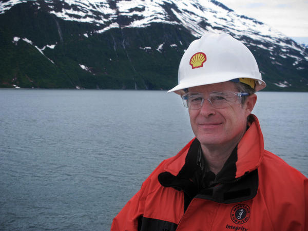 Geoff Merrell is Shell's superintendent for emergency response in Alaska. The training mission on this day is to deploy and retrieve 1,000 feet of oil containment boom.