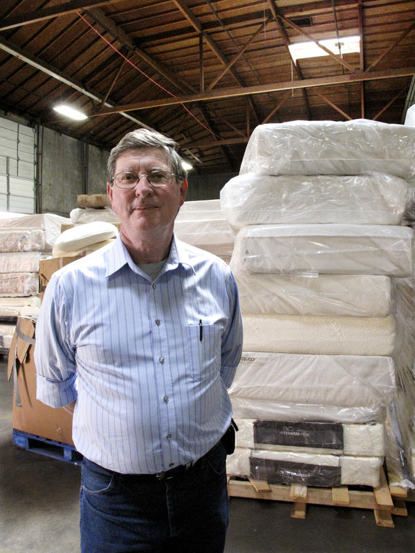 """Terry McDonald, executive director of the St. Vincent de Paul Society of Lane County, is known to some as """"the junkyard king"""" because he spends so much time trying to turn waste into cash."""