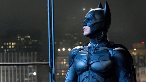 Christian Bale as Batman in <em>The Dark Knight Rises</em>.