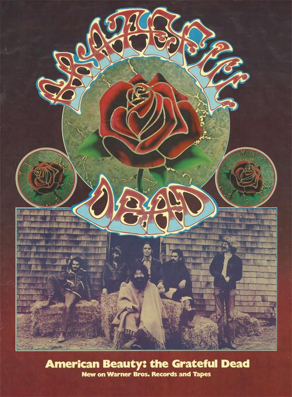 A promotional poster for The Grateful Dead's 1970 album <em>American Beauty</em>.