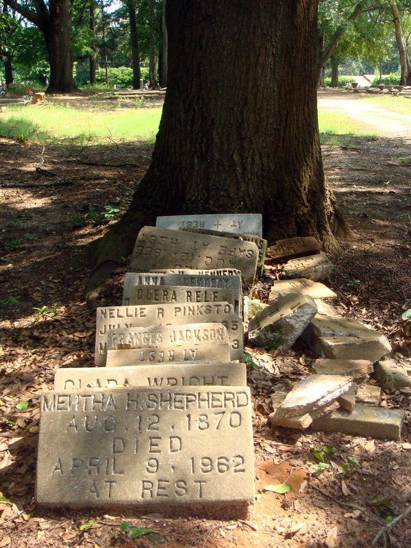 Volunteers have been collecting grave markers like these and trying to figure out where they go.