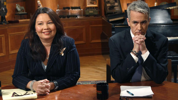 Republican U.S. Rep. Joe Walsh  and challenger Democrat Tammy Duckworth before a televised debate at the WTTW studios on Oct. 18, 2012, in Chicago.