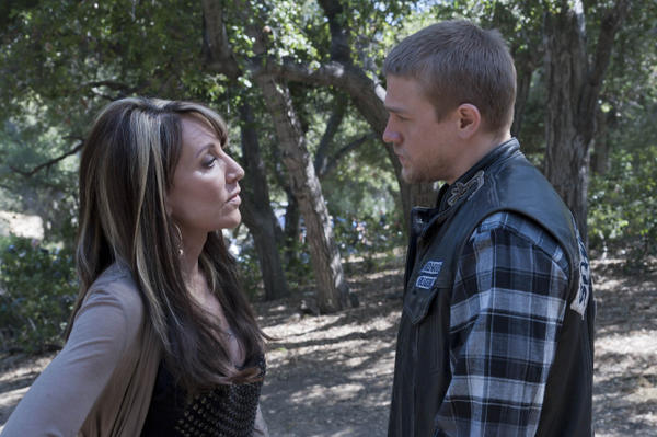 Actor Charlie Hunnam (right) plays Sagal's character's son, who is president of the Sons of Anarchy outlaw motorcycle club.