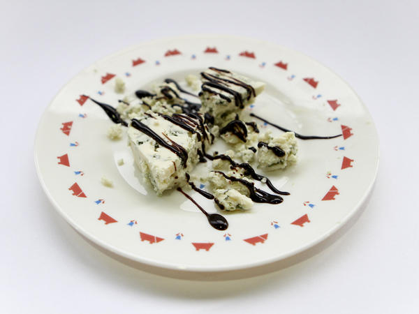 How about some chocolate drizzled over blue cheese?