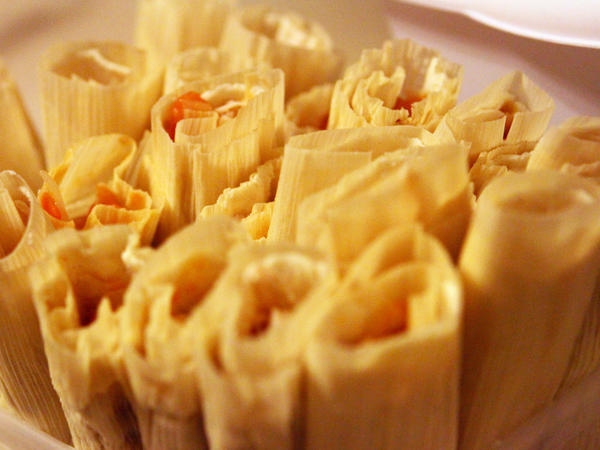 Tamales in Ofelio Crespo's home on Dec. 20.